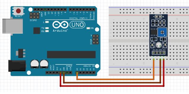 Arduino Toprak Sensörü Temel Kullanım Devresi