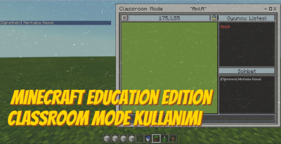Minecraft Education – Classroom Mode Kullanımı