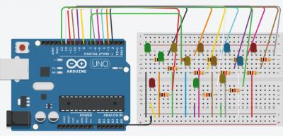 Öğrencimin Arduino'da Hazırladığı 13'lü Karaşimşek Devre Tasarımı