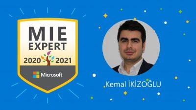 Microsoft Yenilikçi Eğitmen Uzmanı #MIEExpert oldum!