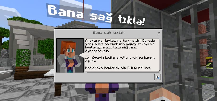 Minecraft Education Kod Saati Türkçe Arayüzü