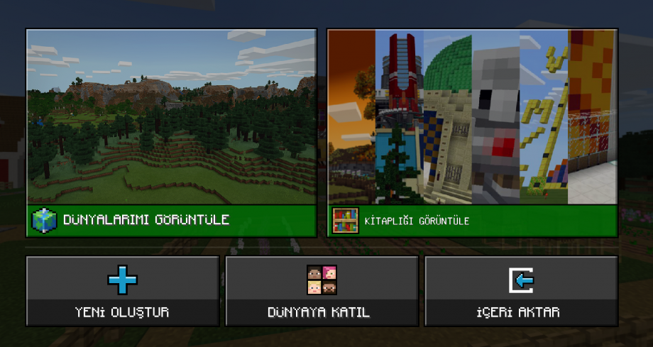 Minecraft Education Oyun Menüsü