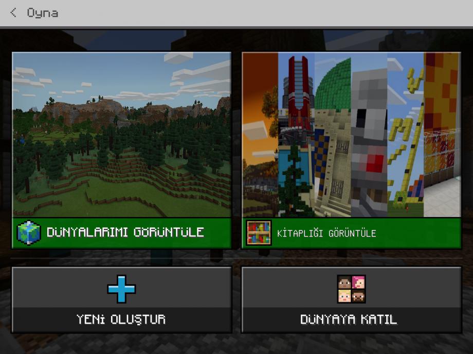 Minecraft Education Ipad Oyun Menüsü
