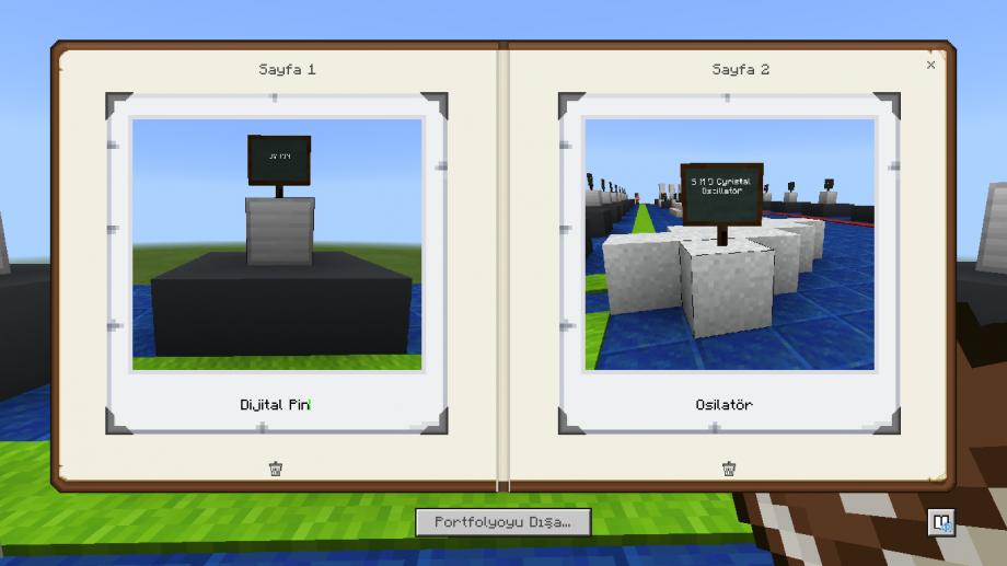 Minecraft Education Portfolyo Kullanımı