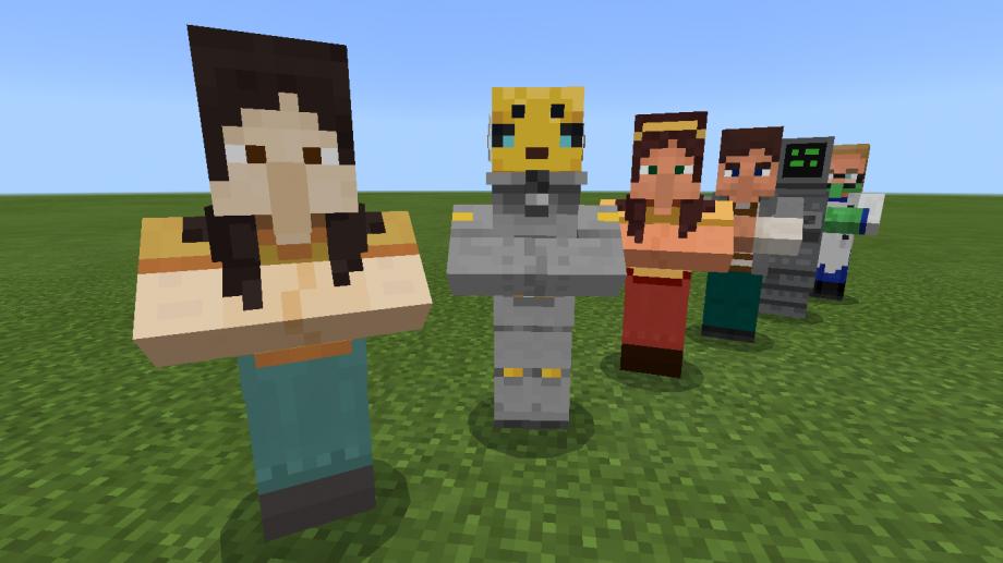 Minecraft Education Oyuncu Olmayan Karakterler Pozu