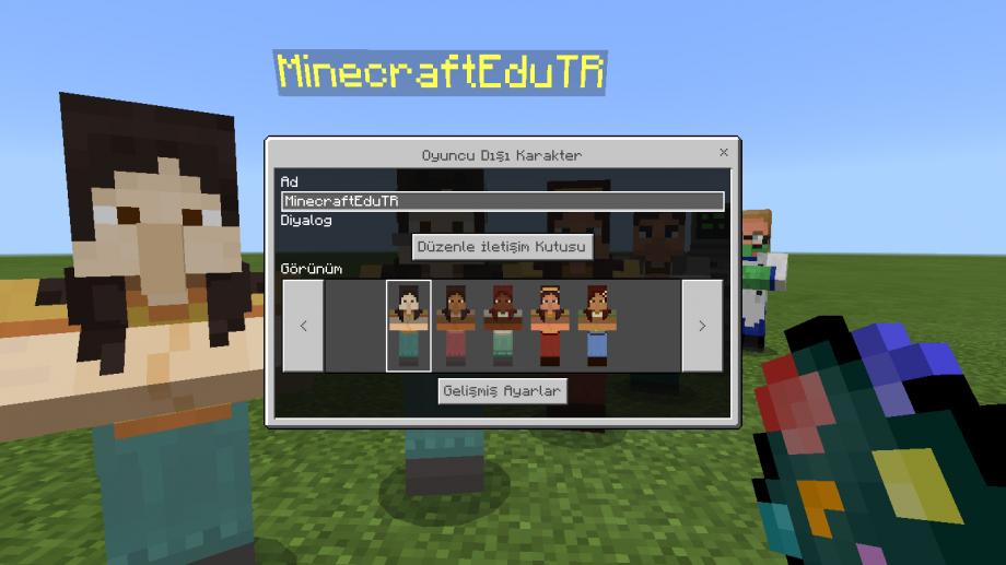 Minecraft Education NPC Düzenleme