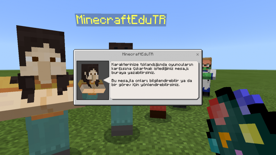 Minecraft Education NPC Mesajı Önizlemesi