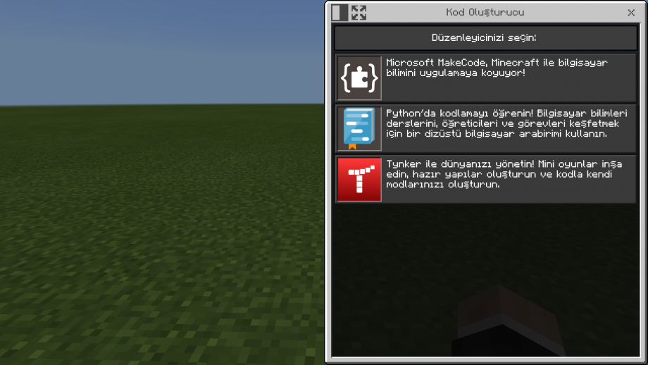 Minecraft Education Kodlama Araçları