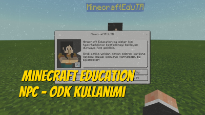 Minecraft Education NPC Kullanımı