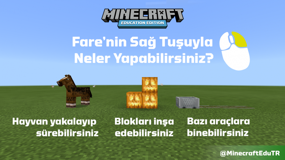 Minecraft Education Fare Sağ Kontrol Tuşu