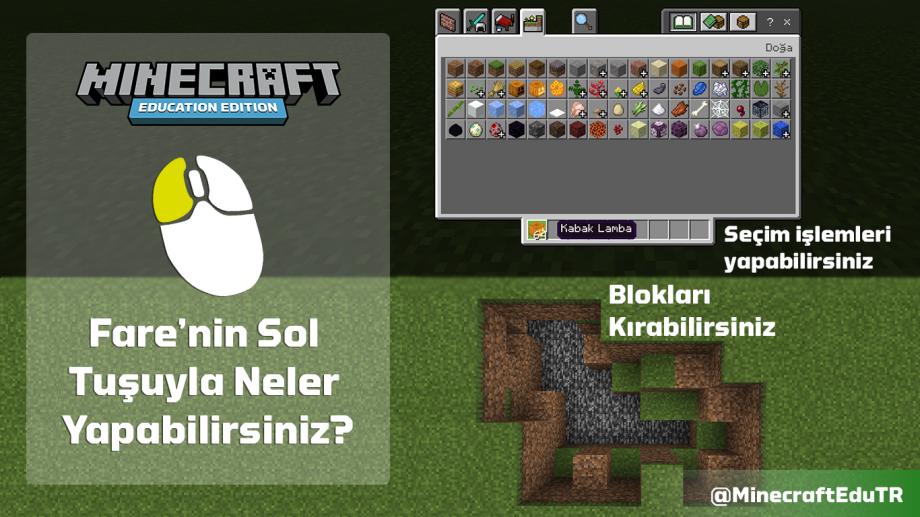 Minecraft Education Fare Sol Kontrol Tuşu